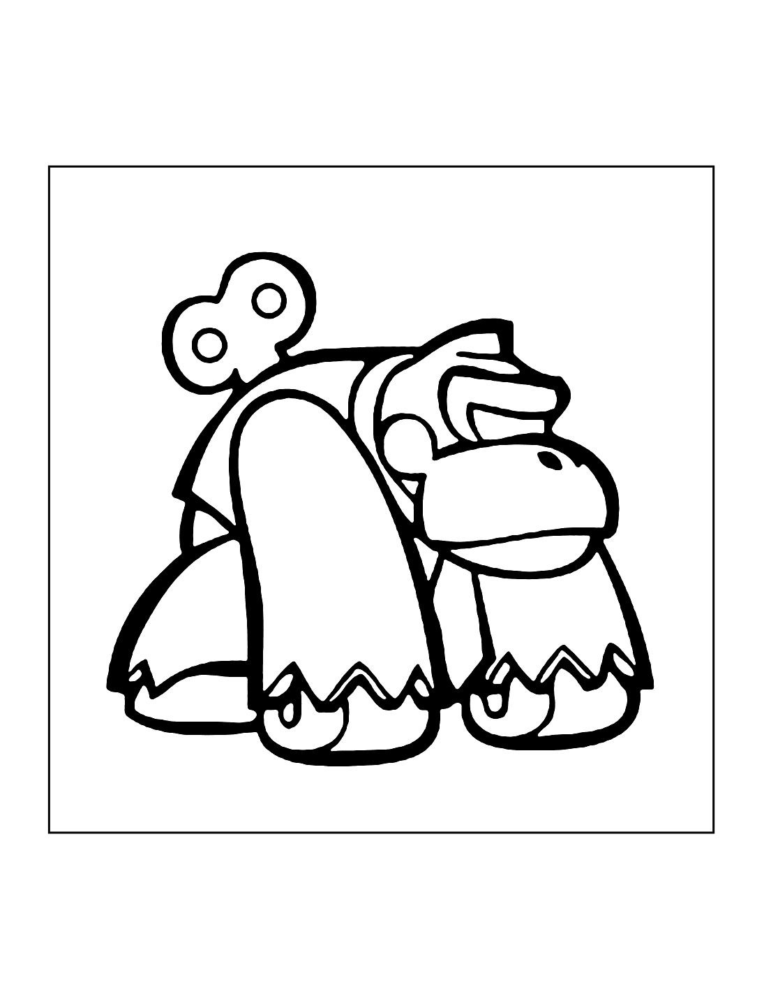 Donkey Kong Wind Up Toy Coloring Page