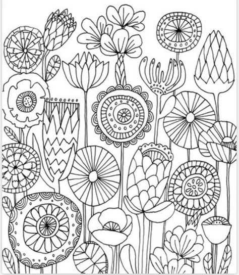 Doodles Flower Coloring Pages