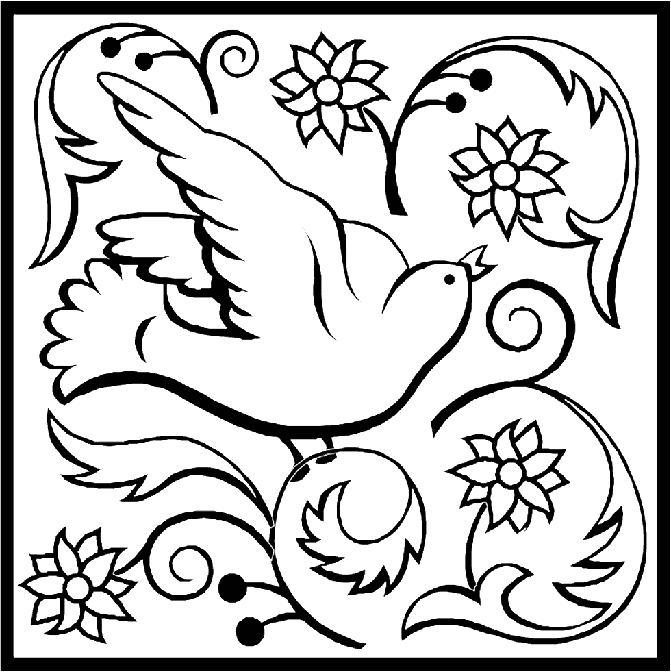 Dove Art Coloring Page