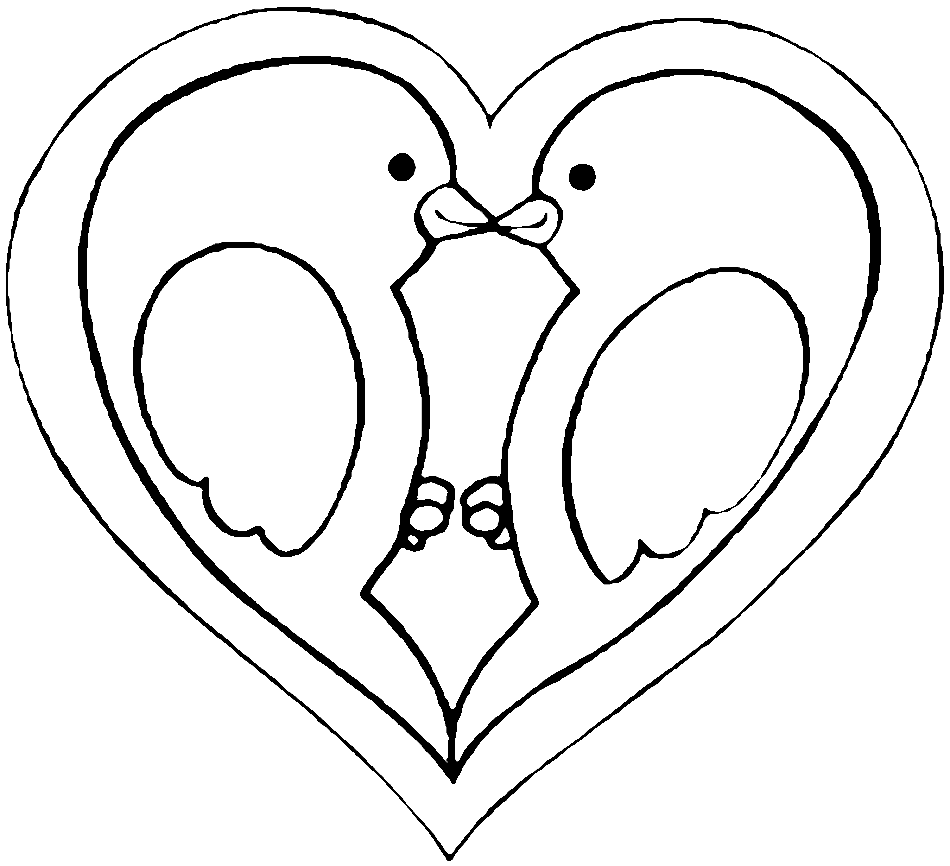 Doves - Love Birds Coloring Pages