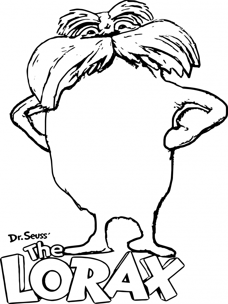 Dr Seuss Lorax Coloring Pages
