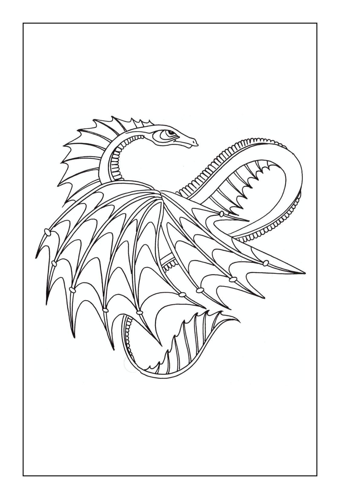 Dragon Coloring Pages coloringrocks
