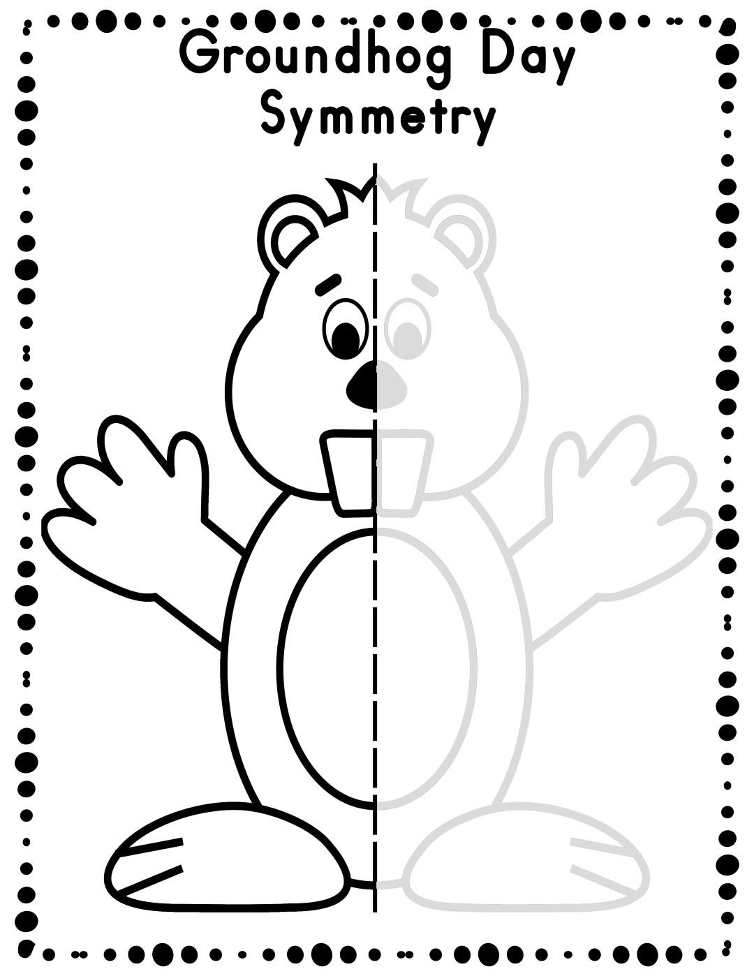 Draw Groundhog Day Worksheet