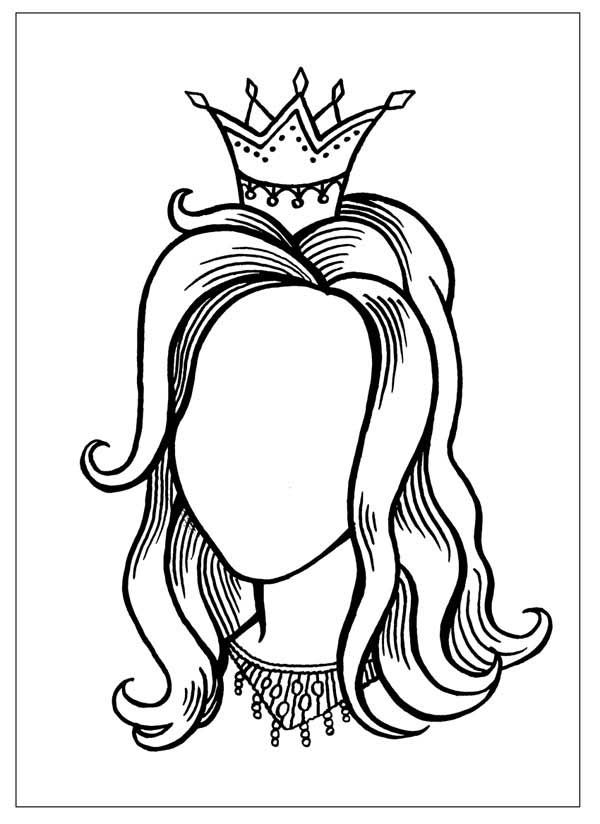 Draw a Princess Coloring Page
