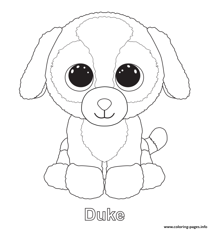 Duke - Beanie Boo Coloring Pages