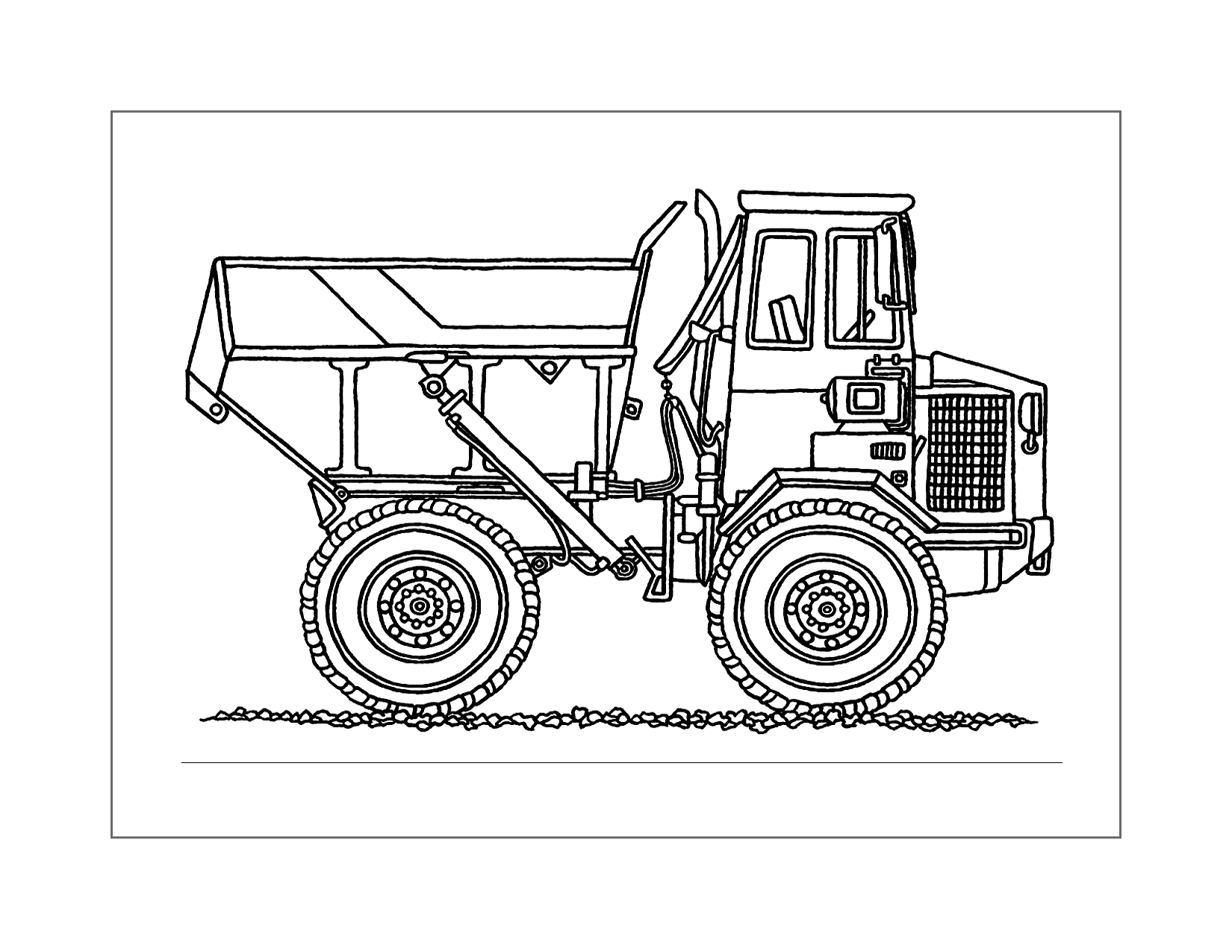 Dump Truck Drawing To Color