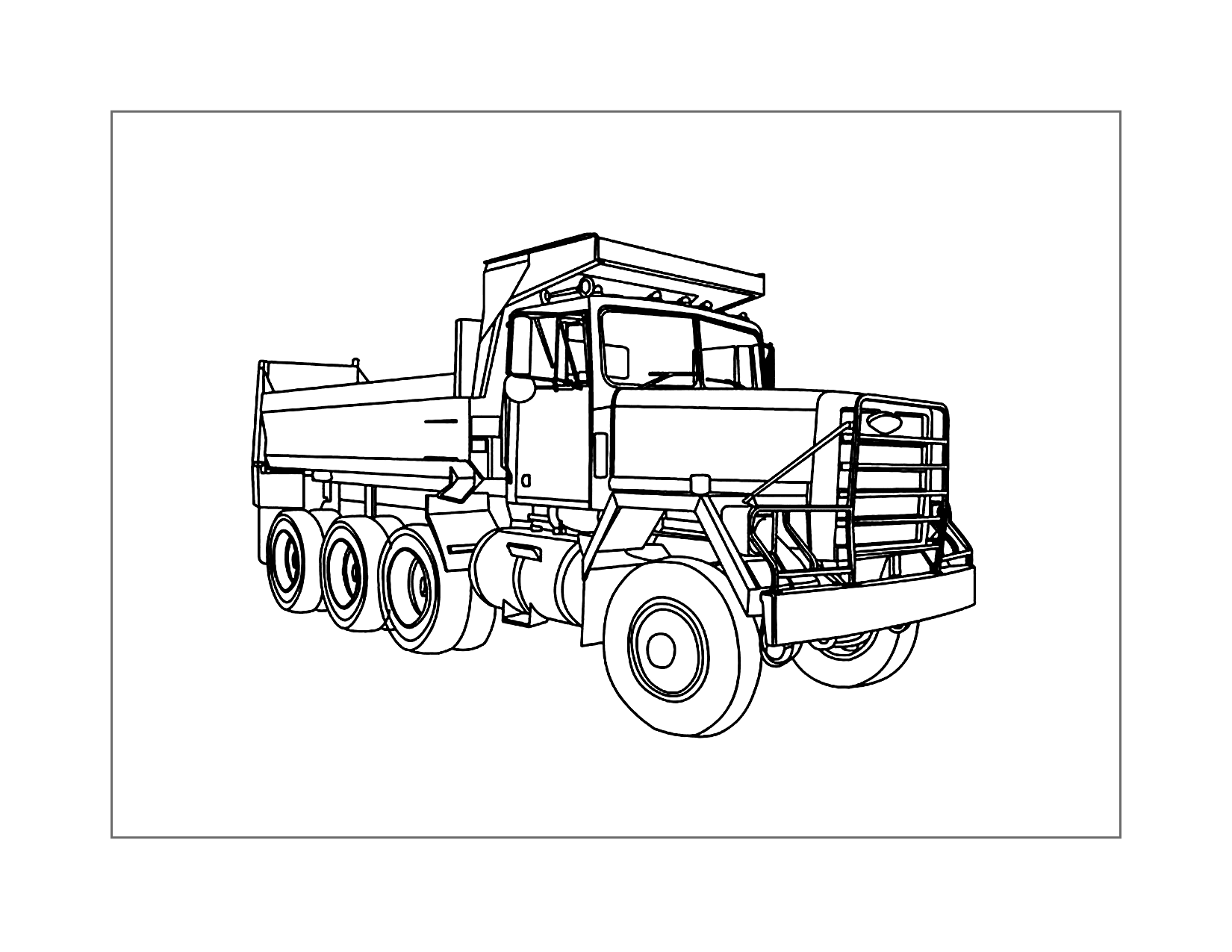 Dump Truck Printable Coloring Page