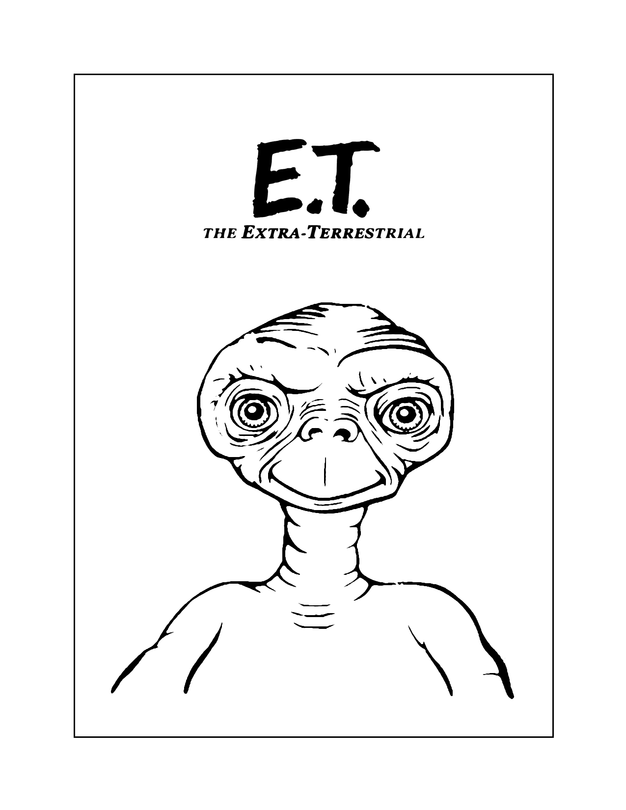 E.t. Movie Coloring Pages