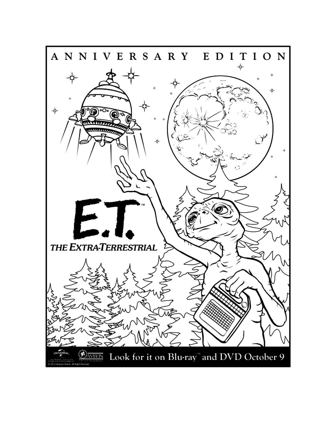 Et Movie Poster Coloring Page