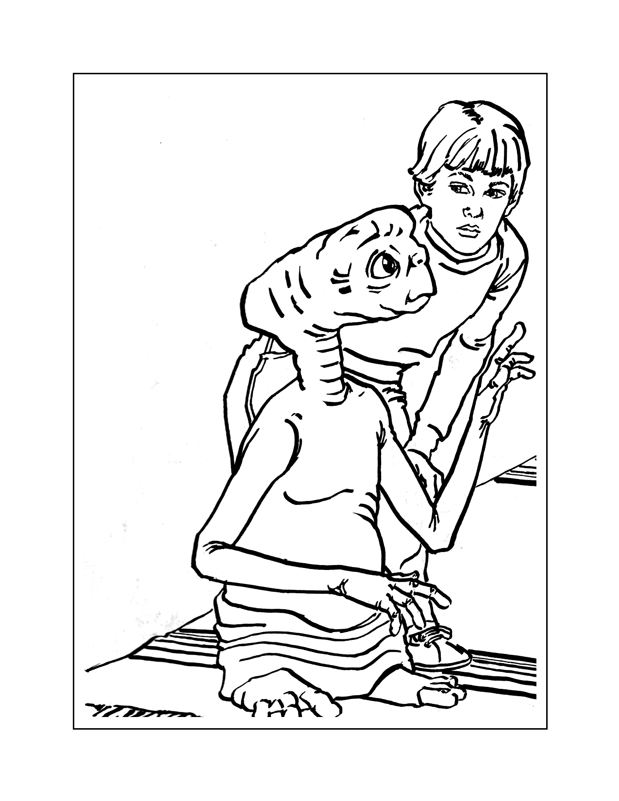 Et And Elliot Coloring Pages