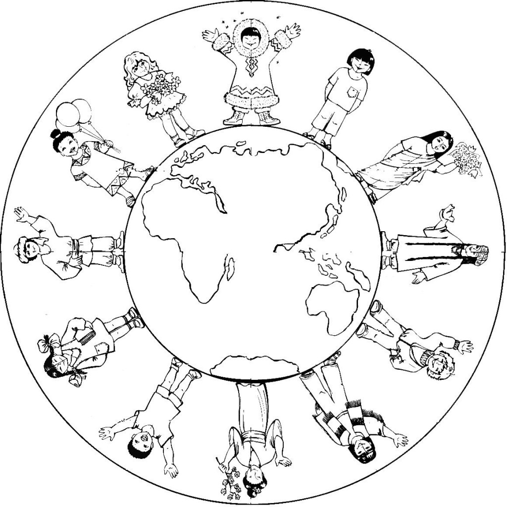 Earth Day World Kindergarten Coloring Page