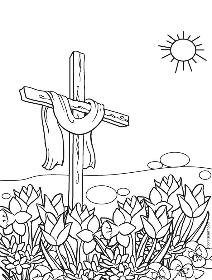 Cross Coloring Pages Coloring Rocks