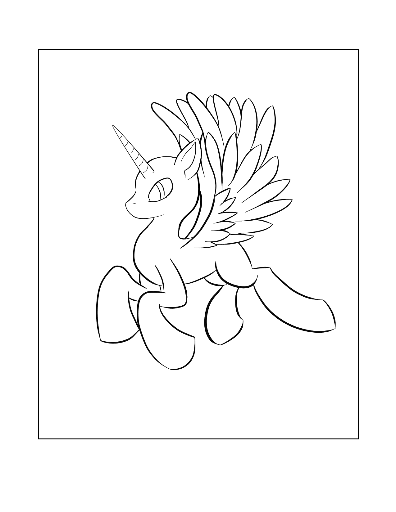 Easy Alicorn Coloring Pages