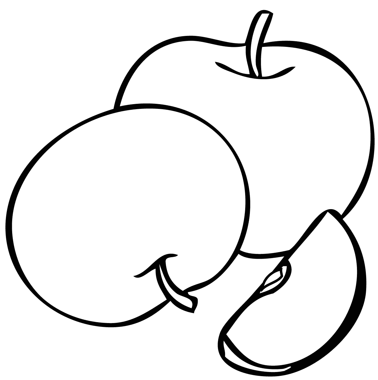 Easy Apples Coloring Pages for Kids