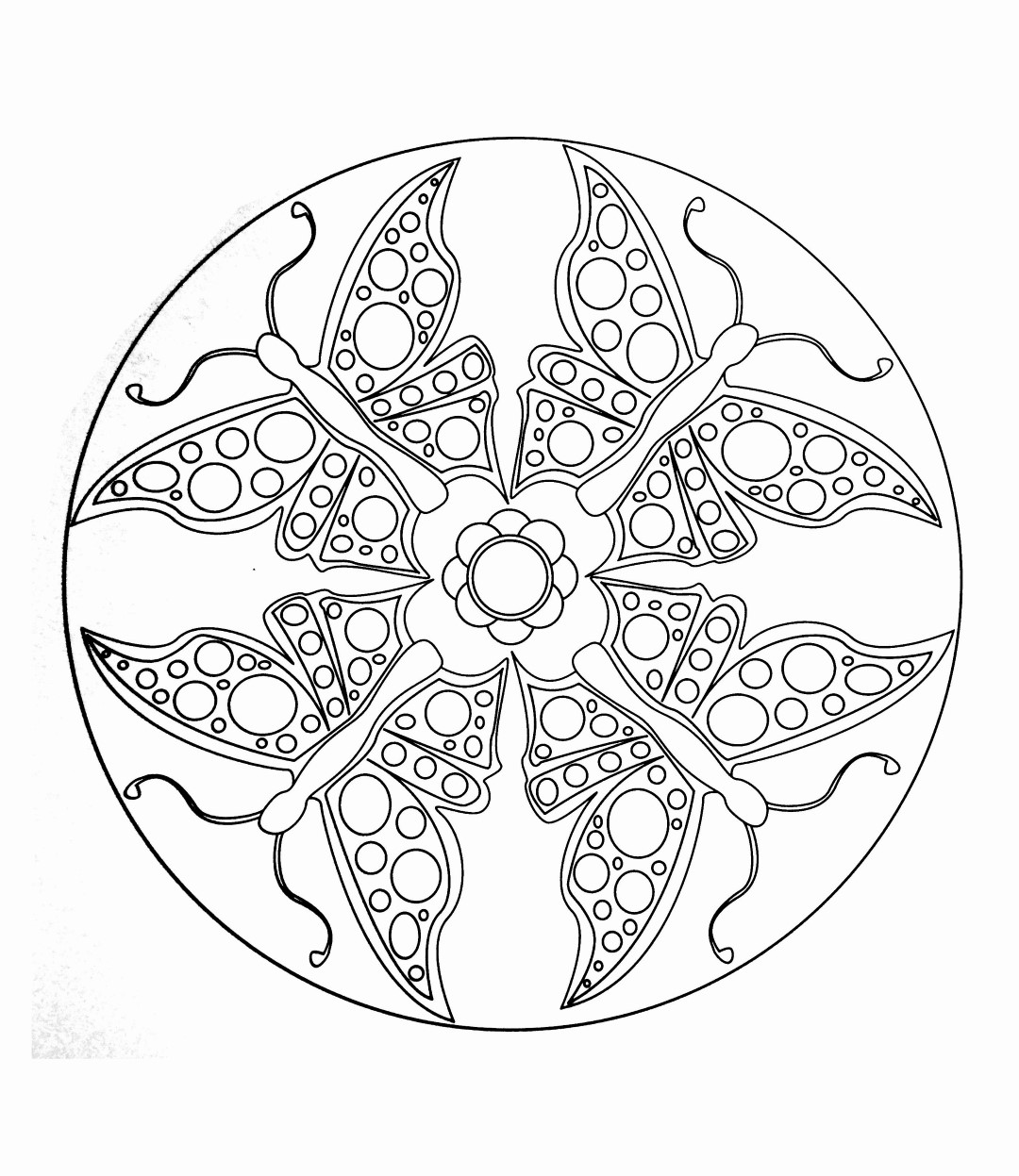 Easy Butterfly Mandala for Kids
