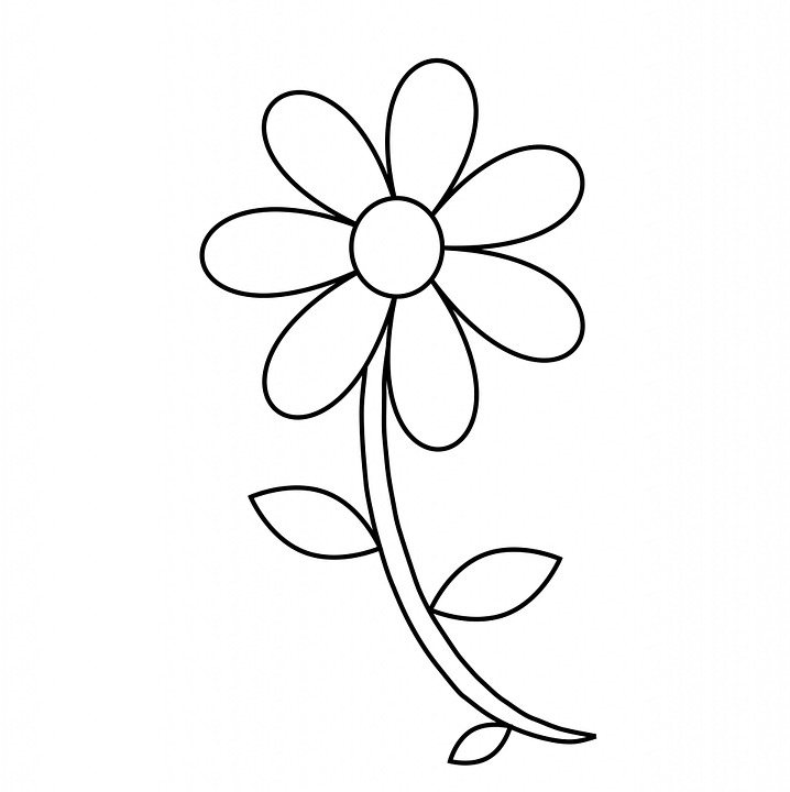Easy Coloring Page Flower