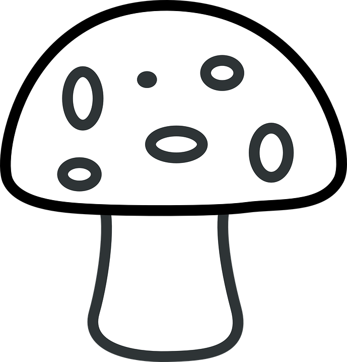 Easy Coloring Pages - Mushroom
