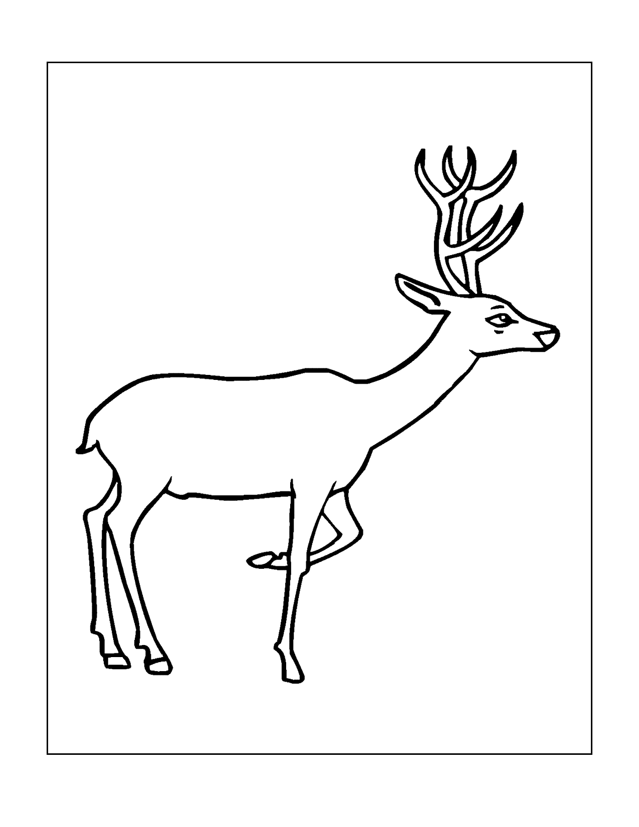 Easy Deer Coloring Pages