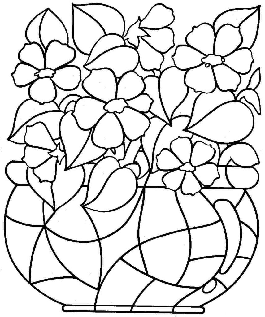 Flower Coloring Pages Coloring Rocks