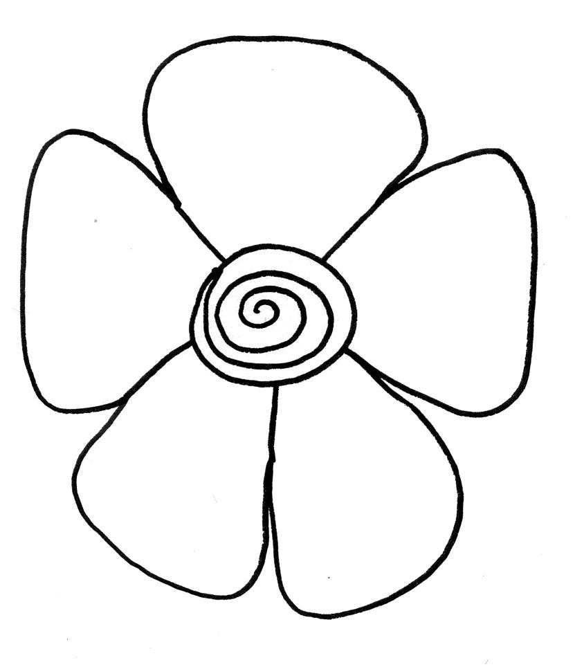 Easy Flower Preschool Coloring Pages – coloring.rocks!