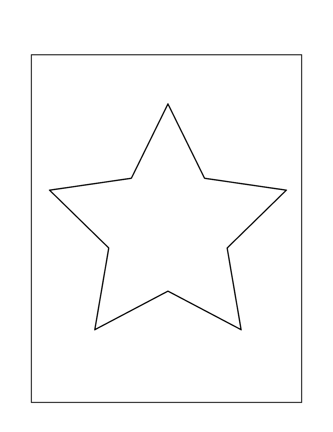 Easy Star Coloring Page