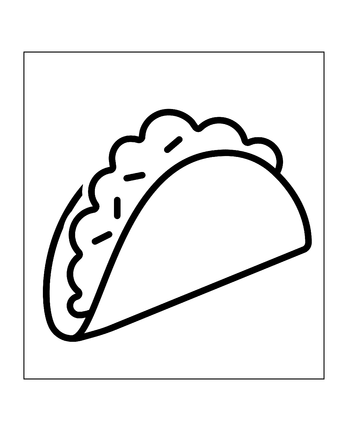 Easy Taco Coloring Page