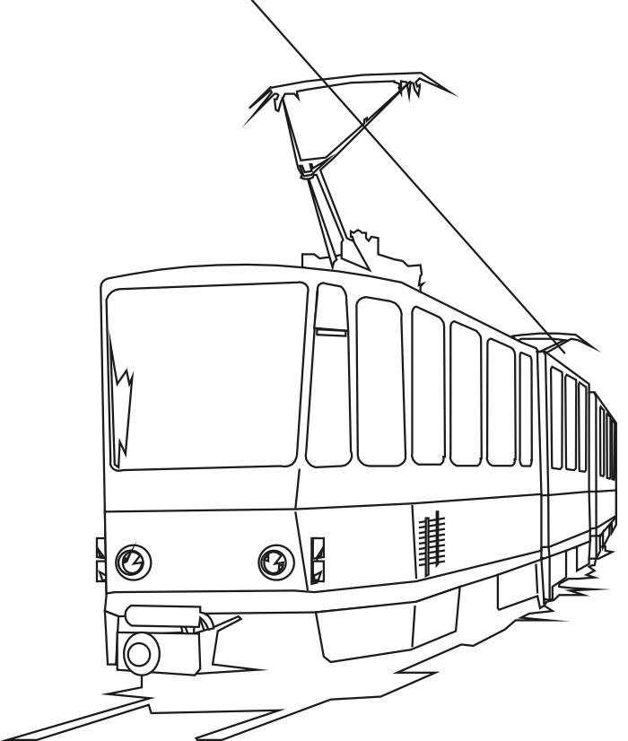 Electric Train Coloring Page