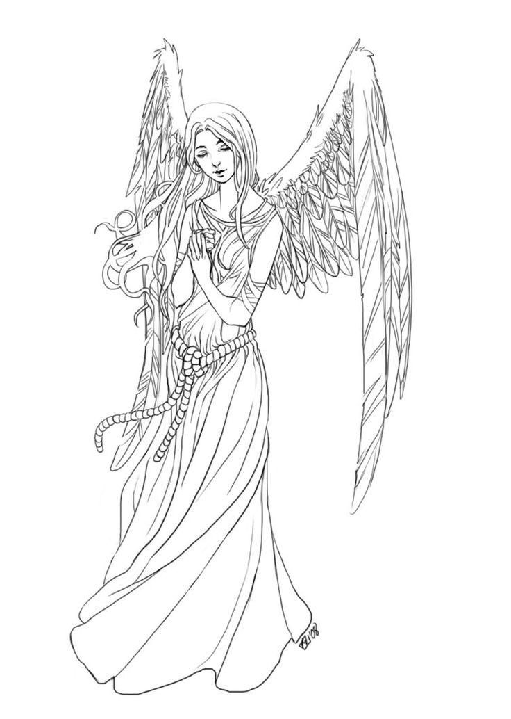 Elegant Angel Coloring Pages