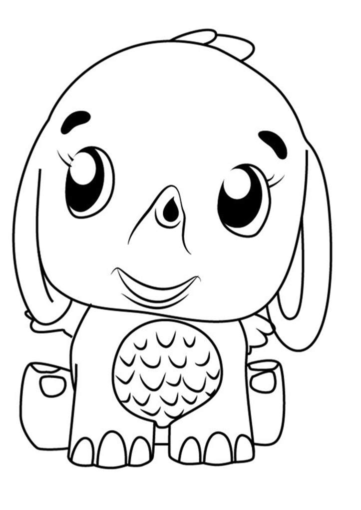 Elephant Hatchimals Coloring Pages
