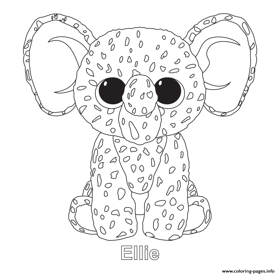 Ellie - Beanie Boo Coloring Pages