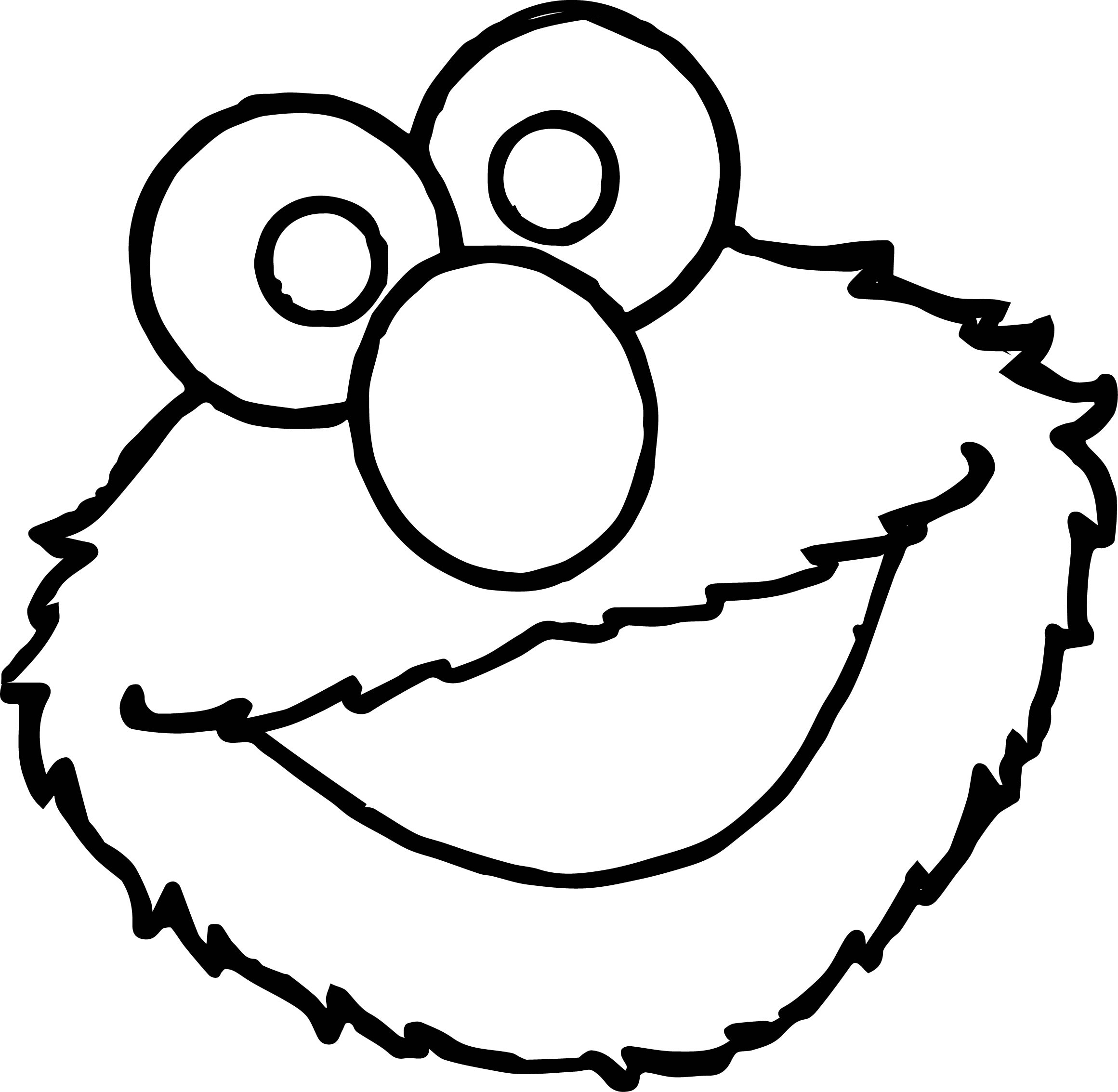 Elmos Face Coloring Page