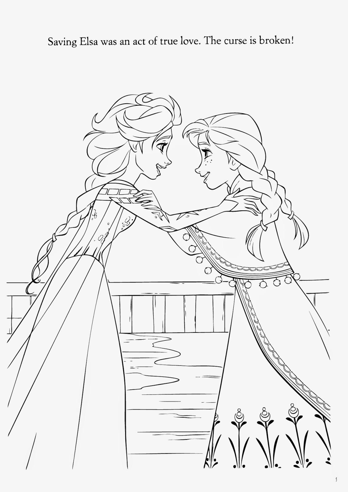 Elsa Breaks Curse Coloring Page