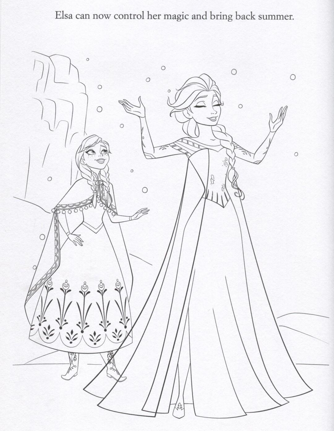 Elsa Controls Her Magic Coloring Page