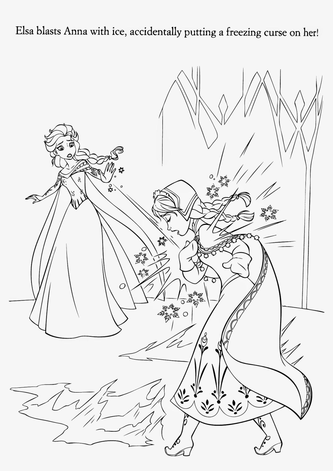 Elsa Disney Frozen Printable Coloring Page