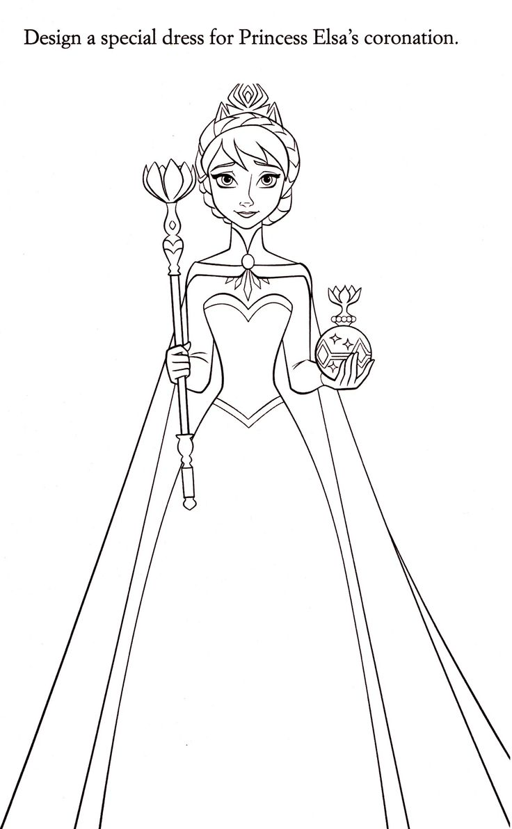 Elsa Printable Coloring Activity