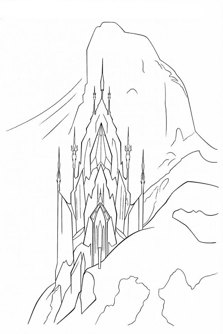 Elsas Castle Frozen Coloring Page