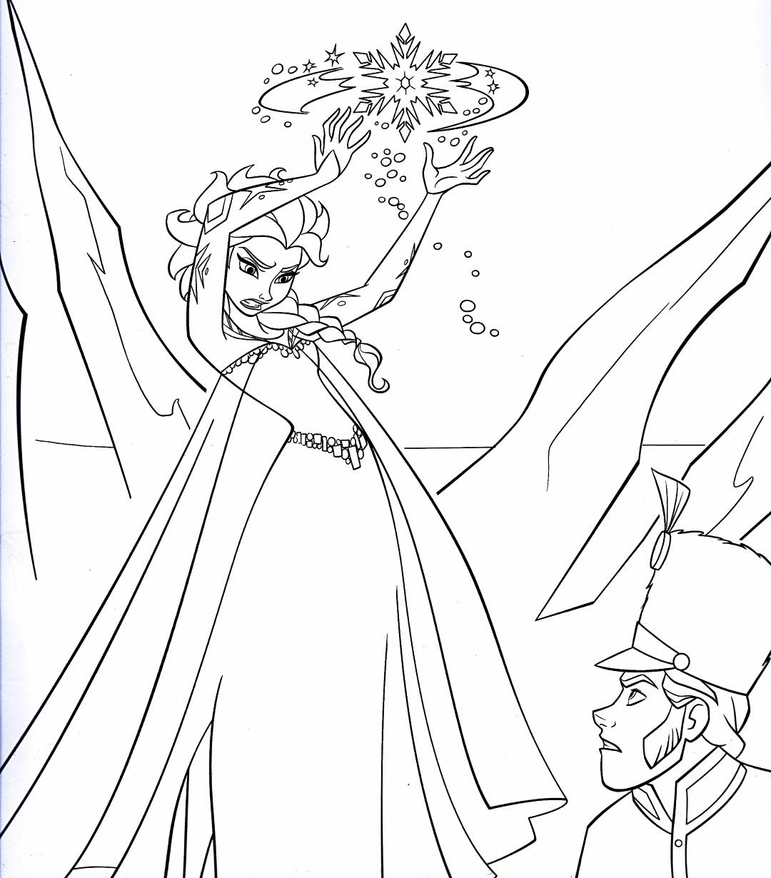 Elsas Magic - Disney Coloring Pages