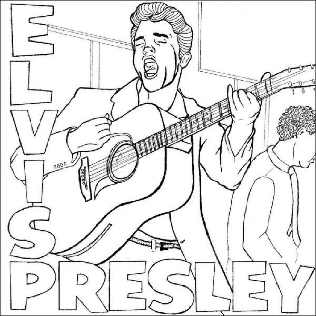 Elvis Presley Cool Coloring Pages