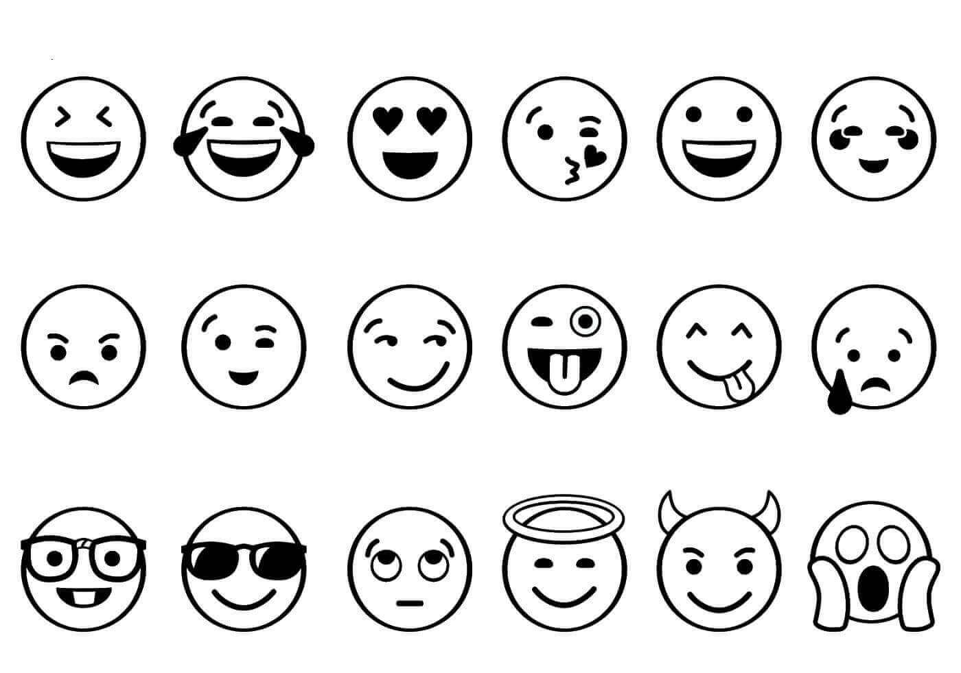 Emojis Coloring Page