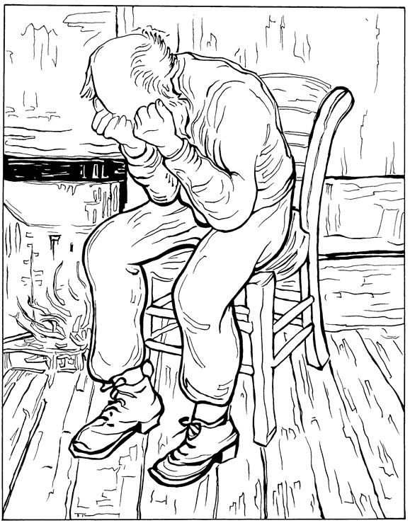 Eternitys Gate Van Gogh Coloring Pages