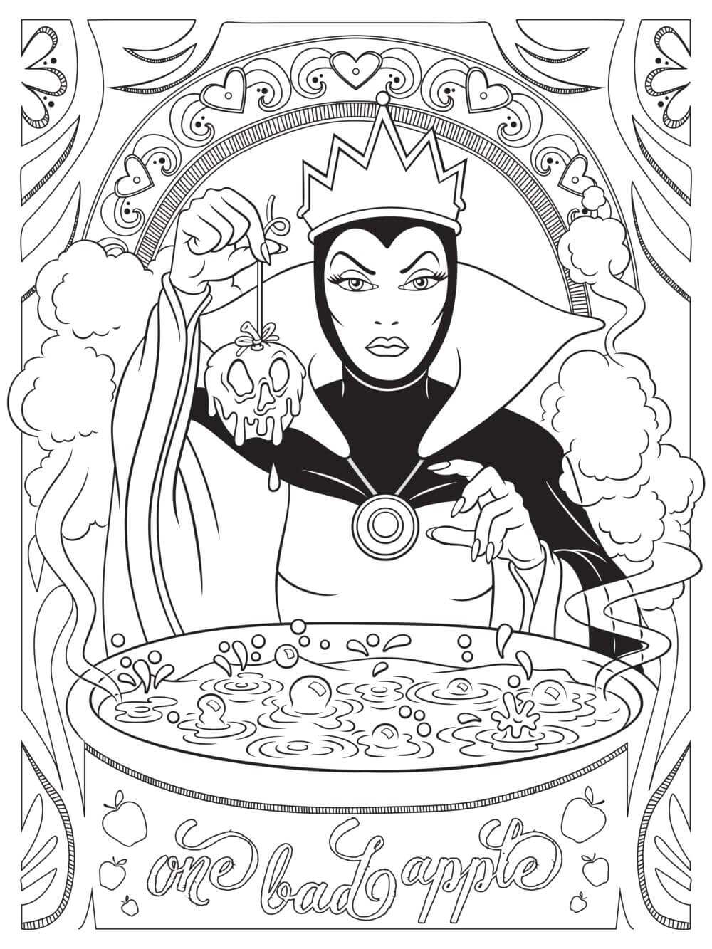 Evil Queen Disney Adult Coloring Page – coloring.rocks!