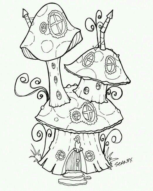 Fairy Garden Mushroom Home to Color