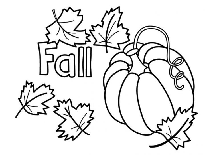 Fall Coloring Page Printable