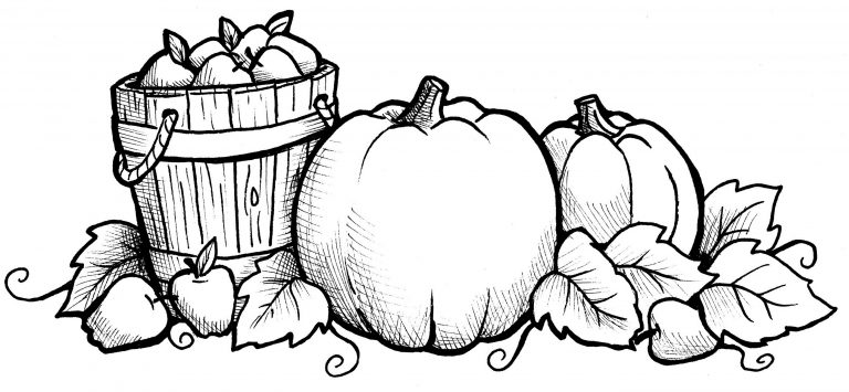 Fall Pumpkin Thanksgiving Coloring Pages