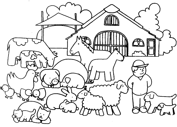 Farm Animals Coloring Pages Coloring Rocks