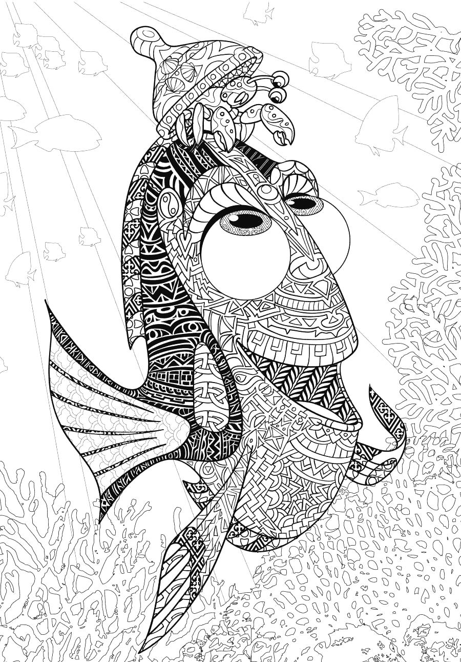 Finding Dory Coloring Page for Adults