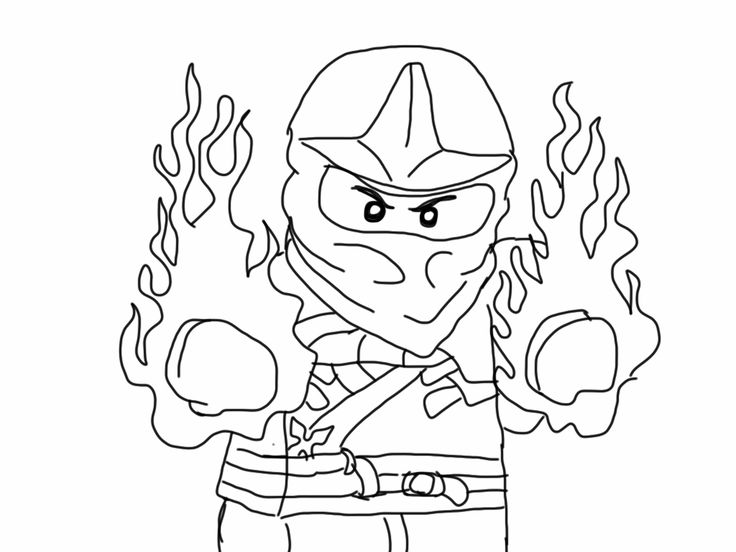 Fire - Ninjago Coloring Pages
