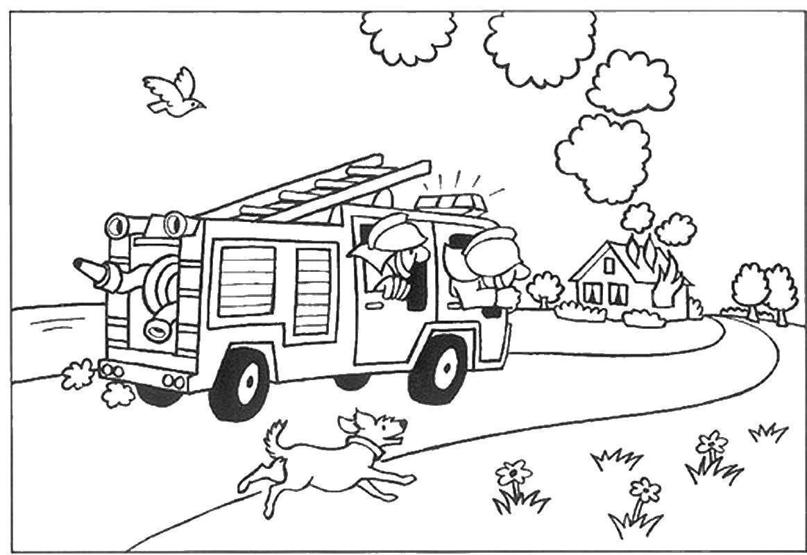- Fire Truck Coloring Pages – Coloring.rocks!