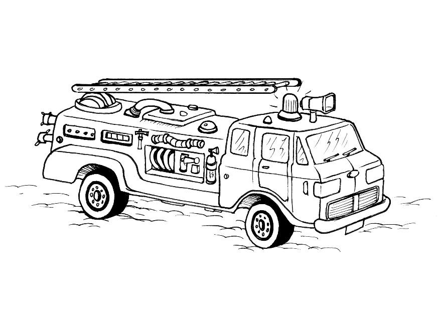 Fire Truck Coloring Page Free Printable