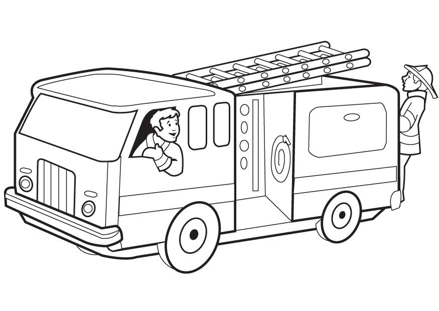 Fire Truck Coloring Pages Free
